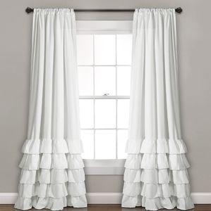 Lush Decor Layered Curtain Panel Set Ruffles